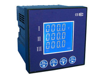 three phase current display meter