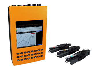Three phase multifunction phase angle current clamp meter